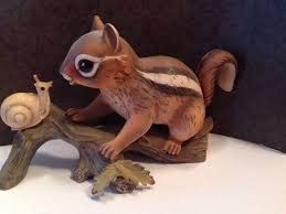 home interior masterpiece figurines homco home interior masterpiece porcelain chipmunk and snail