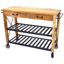 Industrial Iron Wood Kitchen Trolley Natural Black Buy Kitchen | industrial iron wood kitchen trolley natural black buy kitchen