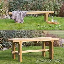 Solid Wood Patio Furniture by Elche Chunky Table Bench Solid Wood Outdoor Furniture Garden Dining