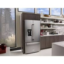 kitchenaid cabinet depth refrigerator krfc604fss kitchenaid 36 23 8 cu ft counter depth french door