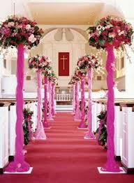 traditional wedding decorations in church decoration church