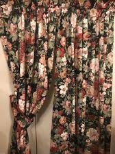 Black Floral Curtains Cottage Floral Lined Curtains Ebay