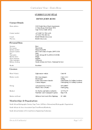 Air Force Resume Example by Cv Format South Africa Letter Format Mail