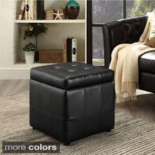 black leather ottomans u0026 storage ottomans shop the best deals