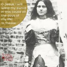 Prayer To St Therese The Little Flower - st therese daily inspiration i will wield my sword
