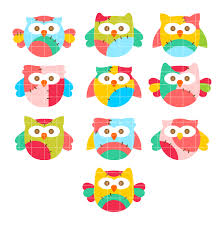 colorful owls set semi exclusive clip art set for digitizing and