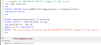 Delete From Table Sql Instead Of Delete Triggers In Sql Server