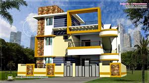 Home Design For Ground Floor by 2500 Square Feet Contemporary Style Kerala House Elevation Ideasidea