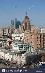 moscow from above contrast and mixture of different architectural