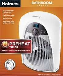Best Small Heater For Bathroom - digital bathroom heater fan with pre heat timer and max heat