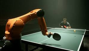 ping pong vs table tennis man vs machine table tennis match daily mail online