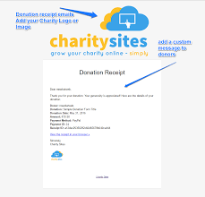 charity donation letter thank you online charity donations software charity sites brand customise donation receipts emails