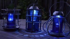 Outdoor Blue Lights Sensational Recycled Solar Lights In The Garden Hometalk