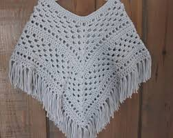 Handmade Poncho - crochet poncho child crochet shawl small crochet