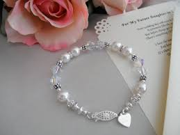 wedding bracelet and personalized poem or note for your future
