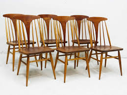 modern mid century danish vintage furniture shop used heywood wakefield dowel high back mid century doeskin dining chairs