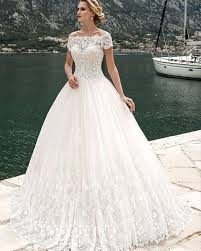 wedding gowns this slightly modest sleeve wedding gown has an illusion