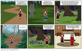 little red riding hood storyboard by elllllie