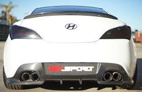 hyundai genesis back rk sport genesis coupe 2010 2015 carbon fiber rear lip spoiler