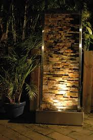Outdoor Water Features With Lights by Modern Backyard Water Feature Love The Lighting Landscape
