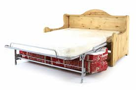 canapé en pin canapé convertible style chalet en pin massif 140 x 200 cm polia