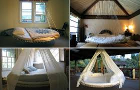 floating bed frame at home and interior design ideas
