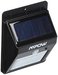 mpow solar light instructions mpow solar powered wireless bright 4 led security motion sensor