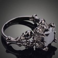 wedding ring black rhodium plated princess wedding ring the copper rivet
