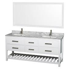 shop wyndham collection natalie white undermount double sink