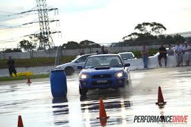 2016 subaru wrx sti review track test video performancedrive nsw impreza wrx club motorkhana skid pan round 1 video