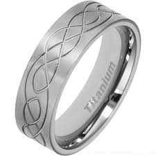 celtic wedding ring men s 7mm titanium celtic wedding ring