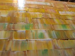 Golden Color Shades Large Modern Abstract Art Warm Colors Golden Browns Ochre