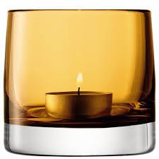 Light Holder Light Colour Tealight Holder Designer Amber Tea Light