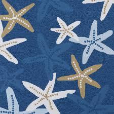 Outdoor Blue Rug by Matira Indoor Outdoor Starfish Rugs