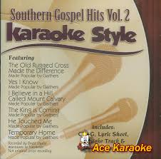 The Old Rugged Cross Made The Difference Sheet Music Daywind Karaoke Style Cdg 1366 Southern Gospel Hits Vol 2