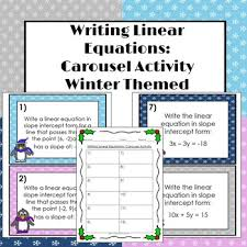 writing linear equations carousel activity by 4 the love of math