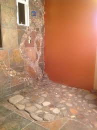 River Rock Bathroom Ideas River Rock Shower Floor Master Bath River Rock Shower