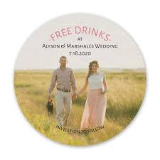 save the date coasters free drinks save the date coaster invitations by