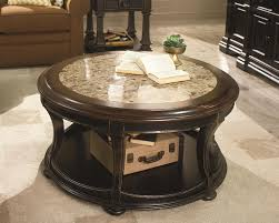 decor antique round marble coffee table with shelf for home