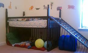 How To Convert Crib Into Toddler Bed I Turned My S Crib Into A Toddler Loft Bed With Only An Allen