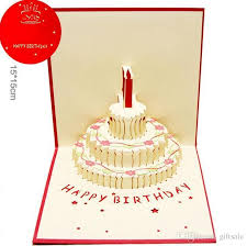 Birthday Day Cards New Arrive Festival Birthday Cake With Candles Celebration 3d