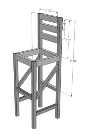 Wood Bar Stool With Back I Need These So I Will Be Making Them With Help From My