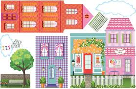 amazon com dollhouse town wall decals removable reusable peel amazon com dollhouse town wall decals removable reusable peel and stick home kitchen