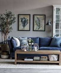 Blue Sofa Living Room Design by Brentwood Ca Residence Great Room Furnishings Concept Board