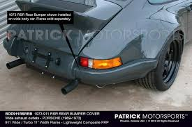 porsche 911 wide 1973 911 rsr rear bumper cover by motorsports porsche