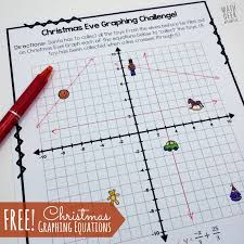 christmas challenge graphing linear equations practice free