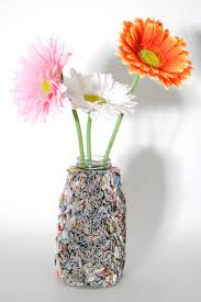 flower vase made from recycled magazines home decor recycled