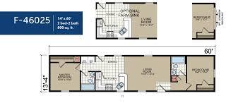 4 Bedroom Single Wide Floor Plans Single Wide Ranch F46025 Ridge Crest Home Sales