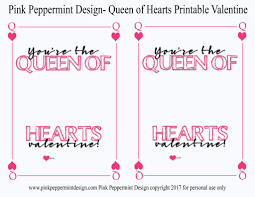 diy valentine u0027s day cards free printable queen of hearts