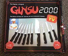 ginsu kitchen knives ginsu 2000 a deluxe set of 10 kitchen knives steak never ebay